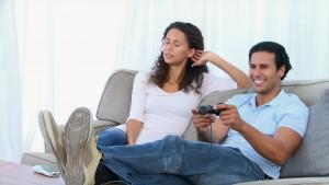 couple console de jeux